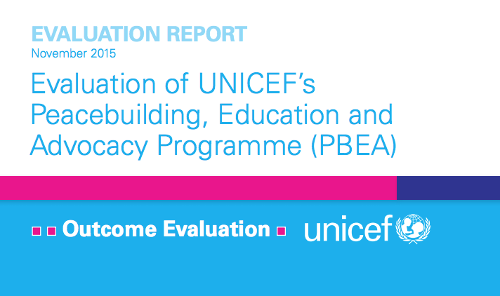 Report: UNICEF Evaluation Report – Peacebuilding, Education and Advocacy Programme
